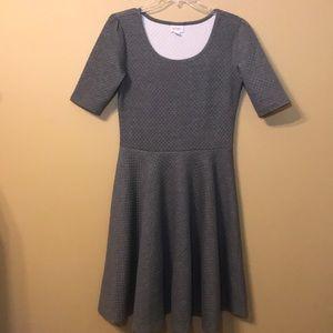 NWOT Lularoe Amelia Dress. Gray, Sz L